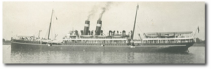 Bharata (BI 1903-1923) was one of the three-ship B class (one of which is pictured) built for the company's premier Calcutta-Rangoon service