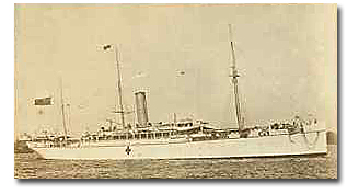 5324 gt Avoca was built in 1891 by Dennys for BI Associated Steamers and the company's Queensland Royal Mail service.