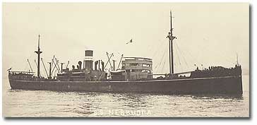 Nerbudda (BI 1919-1936) which, for a very brief period in 1934, was employed as one of the company's cadet ships